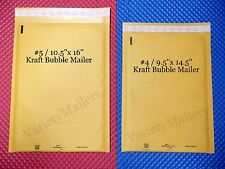 7 KRAFT BUBBLE LARGE PADDED MAILING ENVELOPE COMBO ~ 2 LARGE SIZES MADE IN USA!