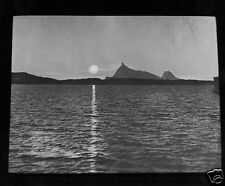 Glass Magic lantern slide MIDNIGHT SUN NORTH CAPE NORWAY C1910