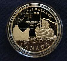 Canada 2012 R.M.S. Titanic $10 Fine Silver Proof Coin
