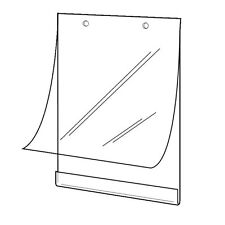"""SET OF 4 HANGING POSTER HOLDERS SLEEVES A2 17"""" x 22"""" WITH FIXING ACCESSORIES"""