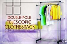 Double Pole Telescopic Clothes Dryer Hanger Rack