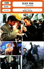 Fiche Cinéma. Movie Card. Black rain (USA) 1989 Ridley Scott