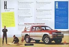 "Miitsubishi L200 4-Life ""How Much Fun Are You"" 1998 Magazine 2 Page Advert #5155"