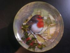 POTTERY BARN 12 DAYS OF CHRISTMAS COLLECTION INDIVIDUAL PLATE: #4 4 CALLING BIRD