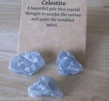 Celestite Natural Raw Crystals x 3 Crystals around 8 grams each piece