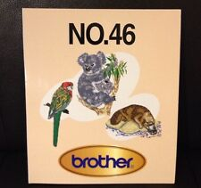 Embroidery Designs Card 46 Wild Animal & Birds For Babylock Deco Brother White