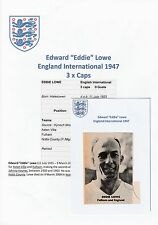 EDDIE LOWE ENGLAND INTERNATIONAL 1947 RARE ORIGINAL SIGNED MAGAZINE CUTTING