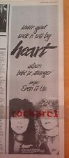 HEART bebe le strange 1980 UK Poster size Press ADVERT 16x6 inches