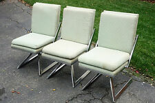 MCM Chrome Swivel Chairs After Vladimir Kagan WILL DELIVER LOCALLY!