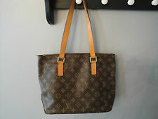 Authentic Louis Vuitton Cabas Piano Shoulder Tote Bag with dust bag