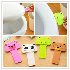 Cute Cartoon Toilet Seat Cover Lifter Handle Avoid Touching Hygienic Clean G842