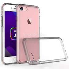 Hybrid Clear Hard Back Soft TPU Bumper Cover Case For Apple iPhone 7/ 7 Plus