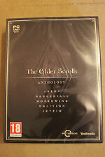 THE ELDER SCROLLS ANTHOLOGY Arena Morrowind Oblivion Skyrim PC BOX NEW STEAM