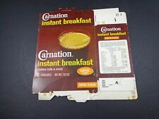 X    CARNATION INSTANT BREAKFAST DRINK -COFFEE-  EMPTY FLAT BOX vintage