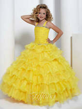 Tiffany Princess 13311 Yellow Little Girls Pageant Gown sz 2