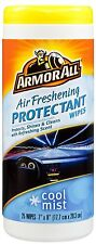 Armor All COOL MIST AIR FRESHENING WIPES x25 Vinyl Rubber Plastic HIGH QUALITY