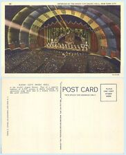 Radio City Music Hall Interior  New York City 1936 Teich  Postcard - Architecutr