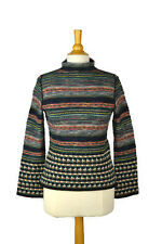 $438 CATHERINE ANDRE Mock Neck Sweater Size S Women MADE IN FRANCE (Like IVKO)