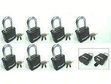 Lock Set by Master M115KALF (Lot 7) KEYED ALIKE Carbide Shackle Weather Sealed