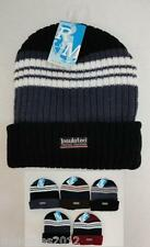 144 Lot Thermal Insulated HEAVY DUTY Striped Winter Knit Beanie Hat Asstd Colors