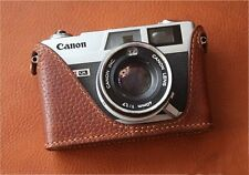 Leather Dark Brown Half Case for Canon QL17 GIII - BRAND NEW