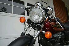"""7"""" CHROME headlight grille Cafe Racer Bobber Chopper CB550 CB450 KZ GL GT CB"""