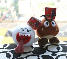 X'mas Super Mario Bros Soft 2 Toy Plush Stuffed animal Doll - Boo Ghost, Goomba