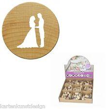 Mini Woodies Motivstempel Hochzeit * Brautpaar * stamp Holzstempel
