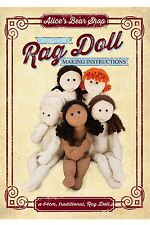 Heirloom Rag Doll Pattern & A5 Instruction booklet  - Doll body