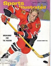1965 1/25 Sports Illustrated, Hockey,magazine,Bobby Hull, Chicago Blackhawks ~Gd
