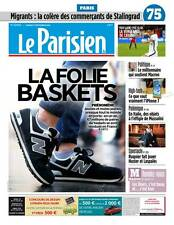Le PARISIEN n° 22405 du 17/09/2016 éd.PARIS 75*BASKETS folie**MIGRANTS=COLÈRE