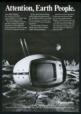 1971 Panasonic Orbitel TR-005 space age TV set television vintage print ad