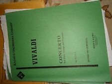 VIVALDI - CONCERTO FOR FLUTE,STRING AND CEMBALO - ORCHESTRA - SHEET MUSIC