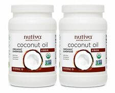 2 Pack Nutiva Organic Virgin Coconut Oil 15 Ounce Tubs
