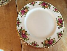 10 ROYAL ALBERT OLD COUNTRY ROSES DESSERT PLATES