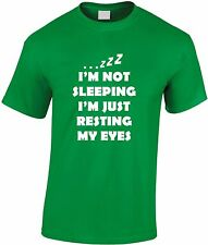 I'm Not Sleeping Just Resting Eyes Children's T Shirt Funny Youth Tee Teen Gift