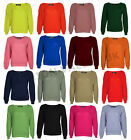 NEW LADIES LONG SLEEVE CHUNKY KNITTED JUMPER WOMENS PLAIN BAGGY OVERSIZED TOP