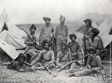 "Sikh Officers British Army 15th Punjab Regiment Indian Rebellion 7x5"" Photograph"