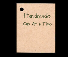 50 *HANDMADE ONE AT A TIME* HANG TAGS PERSONALIZE ITEMS PRICE CRAFTS KRAFT GIFT