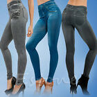 Women Skinny Jeggings Stretchy Denim Pants Leggings Jeans Pencil Tight Trousers