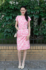 Horn Damen Kleid dress pink rosa Blumen flower 60er True VINTAGE 60´s women