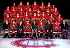 1974 MONTREAL CANADIENS TEAM PHOTO 8X10
