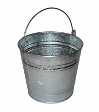 1 x Heavy Duty Metal Galvanised Bucket 14L Litre Ash Coal Water Fire Animal Feed