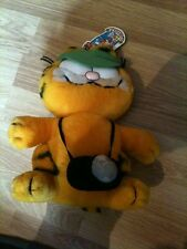 "Garfield Plush Soft Toy With Camera 9"" Tall"