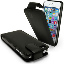 Black Leather Flip Case for New Apple iPhone 5 5S 5C SE Mobile Phone 4G Cover