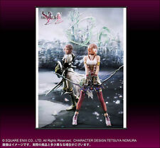 Final Fantasy XIII-2 Lightning & Serah WALL SCROLL Art Poster by Square Enix NEW