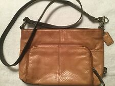 CLARKS BROWN LEATHER  HIPSTER ORGANIZER