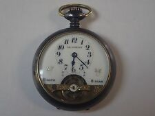 Antique Mechanical Open Face 8  days 8 dias   Pocket Watch  Swiss Made   8 DAY