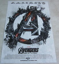"The Avengers 2 - Age Of Ultron  * IMAX Promo Movie Poster 13"" x 19"" rare limited"