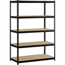 Steel Storage Shelves Adjustable Heavy Duty Metal Black Shelving Units Organize